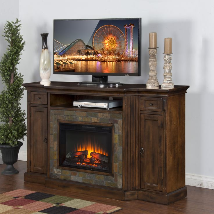 1000 Ideas About Tv Stand With Fireplace On Pinterest