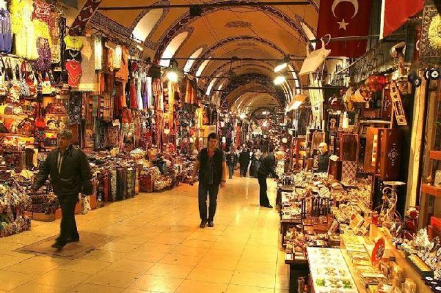 Grand Bazaar in Istanbul Turkey