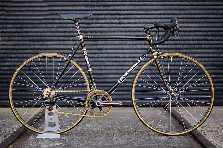 formigli custom italian steel frame road bike 24k gold detail italian road bike steel frames pinterest photos italian and roads