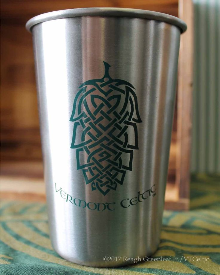 Stainless Steel Pint Cup - Celtic Hop