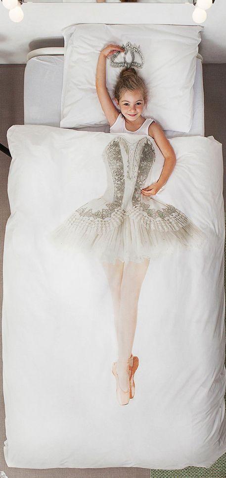 Dit SNURK 'Ballerina' dekbedhoes is de droom voor alle ballerina's en meisjes die nog ballerina willen worden! #Girls #Snurk #Beddengoed