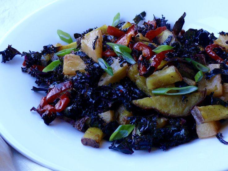 Kale, Pineapple and Kumera Salad