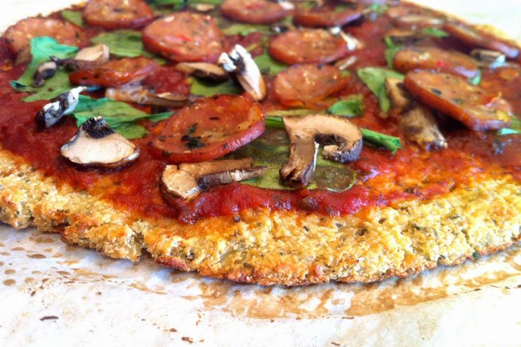 Cauliflower Pizza Crust (Paleo) 2 1/2 cups shredded cauliflower  1 egg 2 Tbsp coconut flour 1 tsp dried oregano 1/2 tsp sea salt 1/2 tsp garlic powder