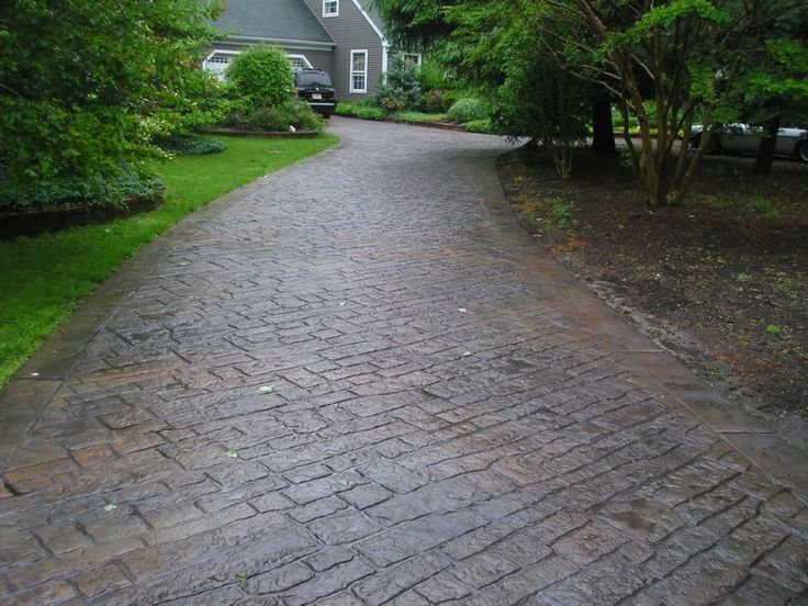 17 best ideas about stamped concrete driveway on pinterest - Stamped concrete walkway ideas ...