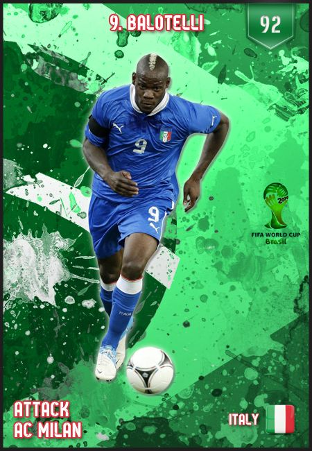 #Balotelli Italy FIFA World Cup 2014 Lineup