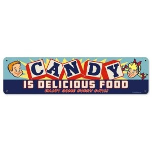 vintage candy signs