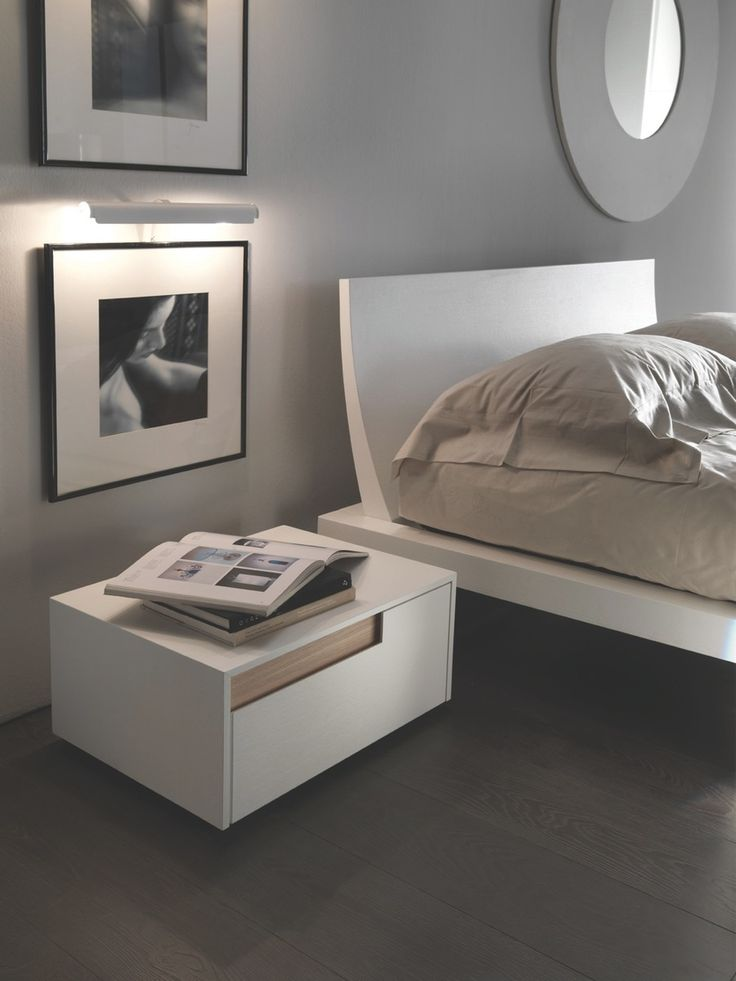 Mazzali Regolo Bedside Cabinet Contemporary Italian Designer Top Quality Matches Bed And Bedroom Furniture Stockist Online Glasgow Delivery Uk