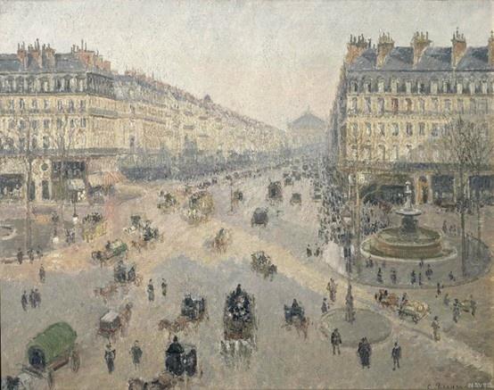 겨울의 아침, 햇살에 비춘 오페라 거리 (Avenue de l'Opéra, soleil, matinée d'hiver)카미유 피사로(Camille Pissarro)