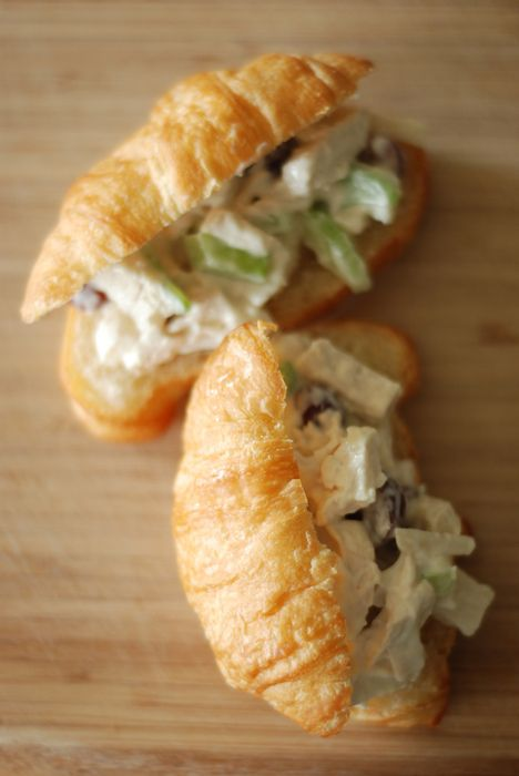 OK...I've made these when I used to cater, they're awesome and super-easy! (Can't eat them now, but so what?!) LABEL: Mini Chicken Salad Croissants