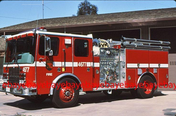 Fire Apparatus Slide, Engine 4677, CDF / CA, 1996 HME