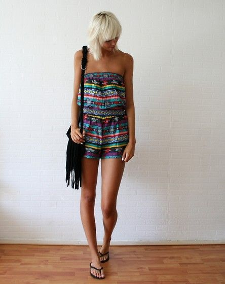 no need for accessories with this amaze Aztec playsuit (by Sietske L) http://lookbook.nu/look/3784827-Aztec-playsuit