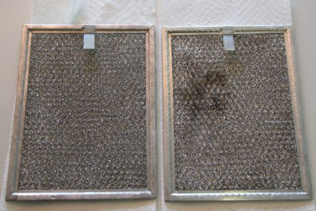 How To Clean Your Stove Vent Filters ... I combined equal parts water and household ammonia and added a health squirt of Dawn Ultra Concentrated, soaked screens in solution, then scrubbed with an old toothbrush