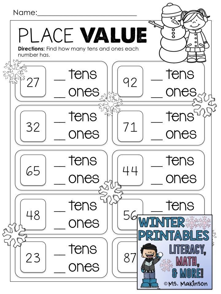 Winter Printables Literacy Math Science Kids Math Worksheets 1st Grade Math Worksheets 2nd Grade Math Worksheets