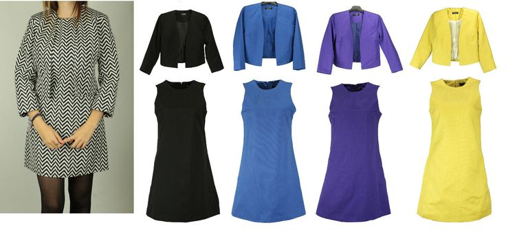 Collection London Petite Ladies A Line Smart Casual Office Lined Dress Or Jacket