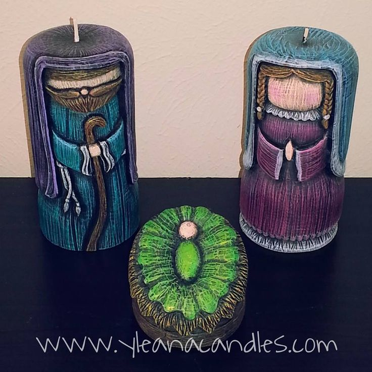 Handmade carved candles, by Yleana Candles.                                                                                                                                                                                 Más