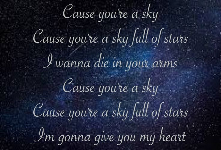 A Sky Full of Stars | Coldplay