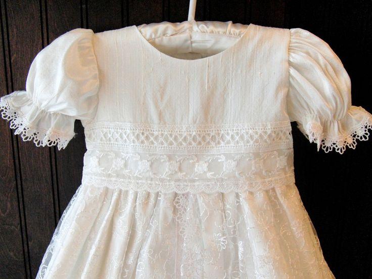Christening Wardrobe - Christine Lace and Silk Christening Gown, $109.00 (http://www.christeningwardrobe.com/christine-lace-and-silk-christening-gown/)