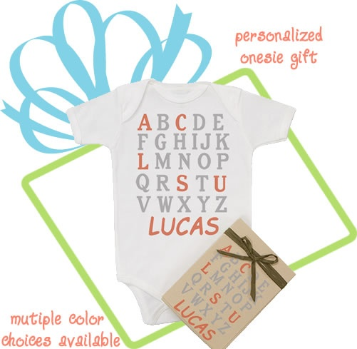 35 best organic baby clothes images on pinterest organic baby organic abc personalized baby layette gift multiple colors available negle Image collections