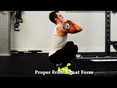 ▶ How To Front Squat With Proper Form - YouTube
