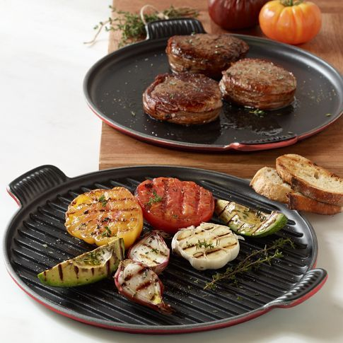 le creuset bistro round griddle pan great for everything from cooking pancakes and laying strips of