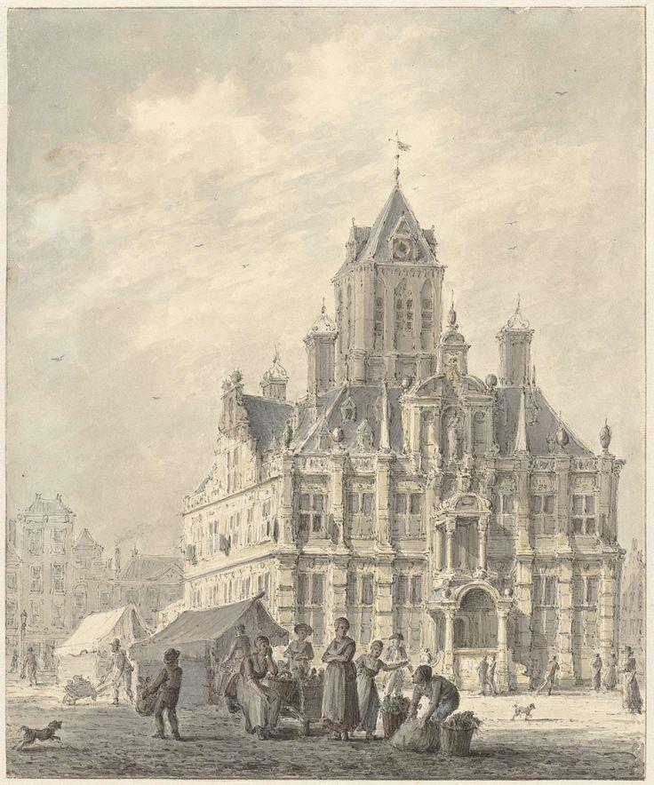 Johannes Jelgerhuis | Het stadhuis van Delft, Johannes Jelgerhuis, 1780 - 1836 |