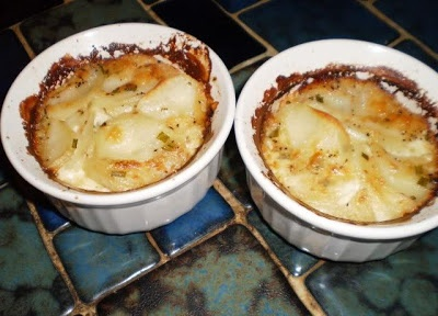 5 minute Individual Potato Gratins-jumping off point - I'll play w ingredients on this one