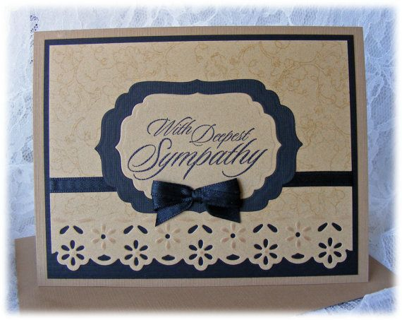 Elegant Handmade Sympathy Card with in by PineappleSoupDesigns
