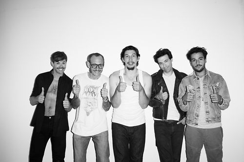 Andrew Rannells, Terry Richardson, Adam Driver, Alex Karpovsky, and Christopher Abbott by Terry Richardson