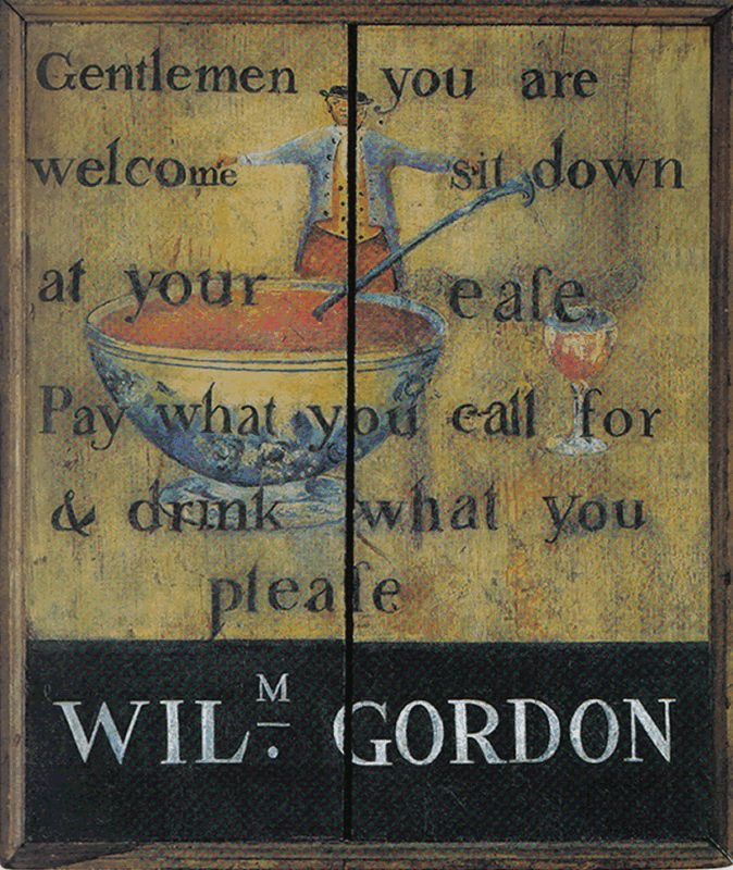 William Gordon Tavern Sign - Walker's Colonial American Sign Co. - vintage early tavern signs - Vintage sign, tavern sign, antique sign, vintage, American, colonial American, reproduction, tavern, circa 1820, museum quality, colonial American sign company, lions eagles bulls, early American