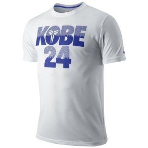 Nike Kobe 24 Pattern T-Shirt - Men's - Basketball - Clothing - White/Light Concord