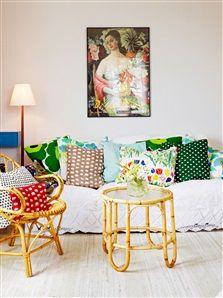 Soffa i vardagsrum