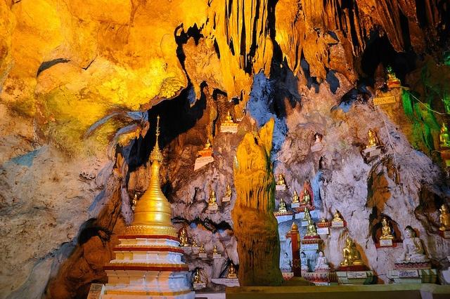 Pindaya Cave in Pyin Oo Lwin, Myanmar.