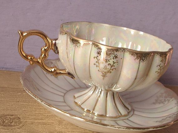 Antique 1950's Royal Sealy china tea cup set by ShoponSherman,