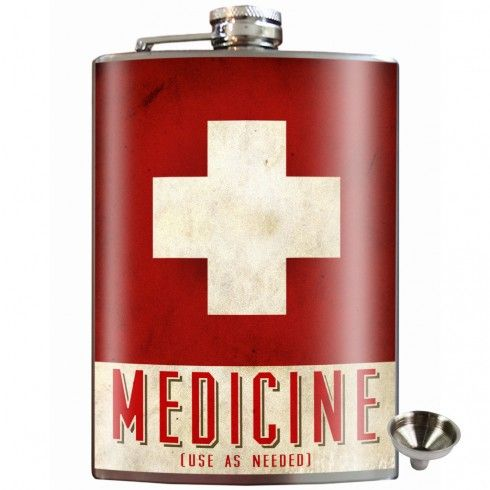 Medicine Stainless Steel Hip Flask $35
