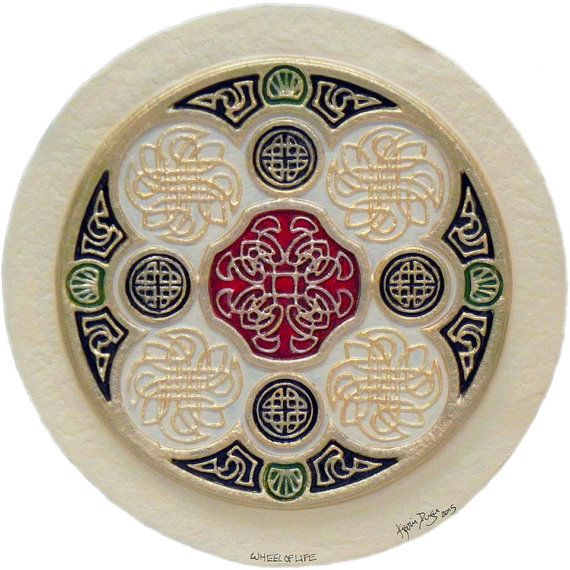 Celtic Wheel of Life - Cast Paper - Irish art - Celtic art - Scottish art…