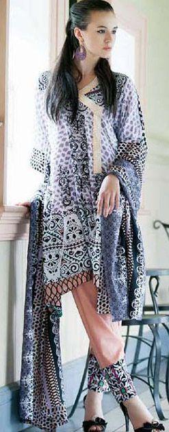 SkyBlue/Tea Pink Cotton Lawn Salwar Kameez Dress $36.99 DESIGNER WINTER DRESSES Pakistani Indian Dresses Online, Men Women Clothing and Shoes | PakRobe.com