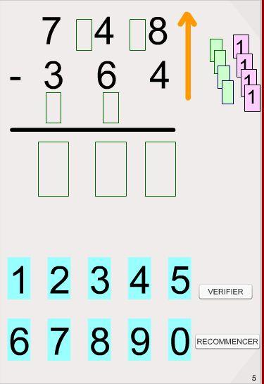 Deux didapages interactifs pour aborder la soustraction posée du CE1 au CM2.