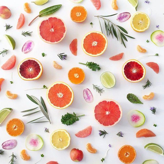 Citrus Food Collage | Julie's Kitchen