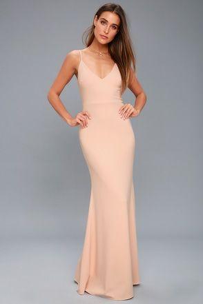 Infinite Glory Blush Pink Maxi Dress 1