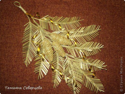 Поделка изделие Новый год Плетение Новогодняя композиция Соломка