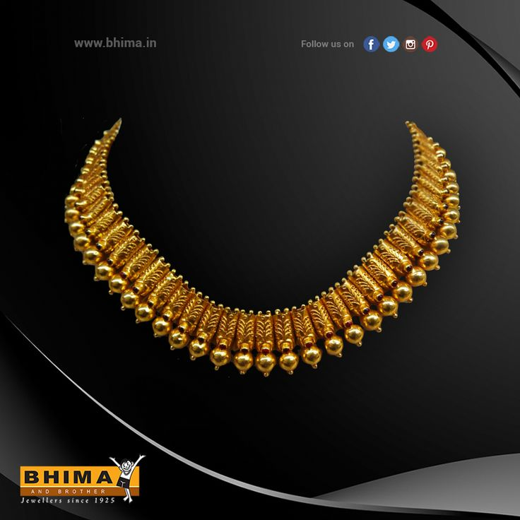 Gold Necklace !  . #jewelry #jewellery #necklace #gold #forher #accessories #fashion #luxurystyle #style #bhima #ornaments #goldornaments #handcraft