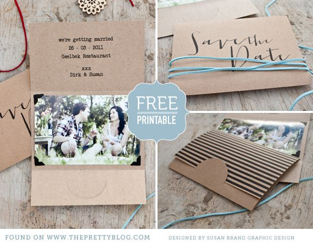Free printable & adorable Save the Date