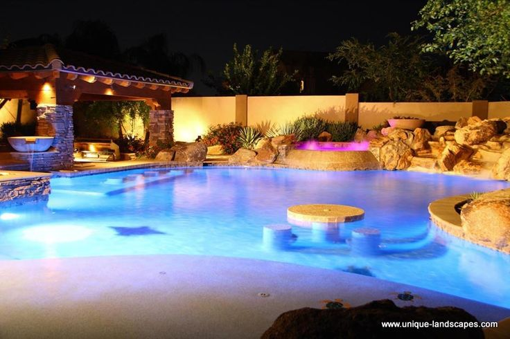 Backyard swimming pools best backyard on the block with for Pictures of swimming pools in backyards
