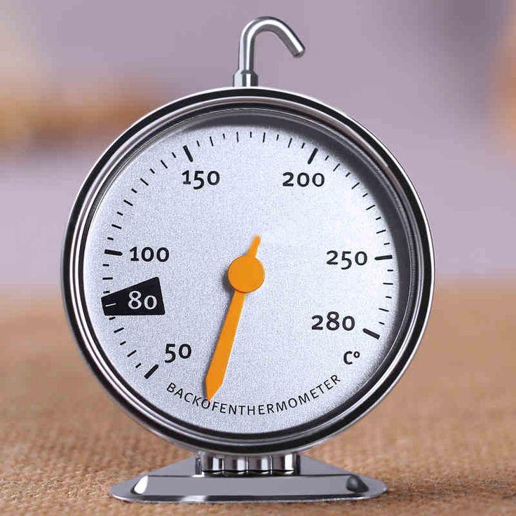 Colgando horno de cocina herramientas de la temperatura del termómetro indicador de bicarbonato de cocina de acero inoxidable