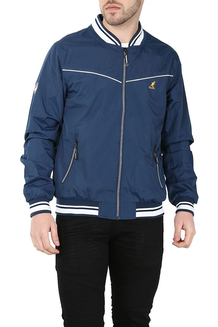 Kangol-Mens-Branded-Jacket-Paxton-Technical-Windcheater-Summer-Bomber-Ma1-Harrin