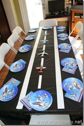 25 best ideas about birthday table decorations on for Aviation decoration ideas