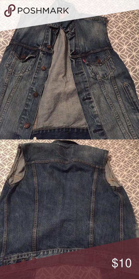 Mens sleeveless denim jacket Sleeveless denim jacket Jackets & Coats