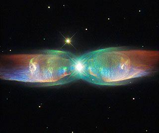 The Twin Jet Nebula. Credit: ESA/Hubble & NASA Acknowledgement: Judy Schmidt