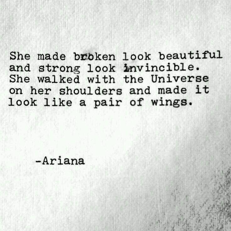 She made broken look....