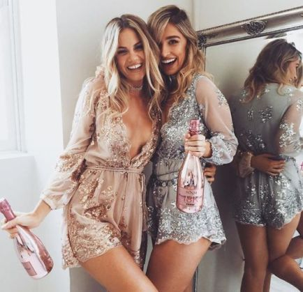 These sequin rompers are perfect for New Years Eve outfit ideas!